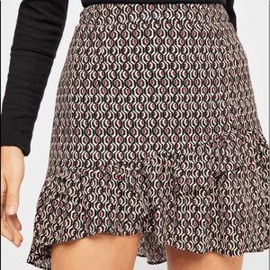 Free People Nadia wrap mini skirt
